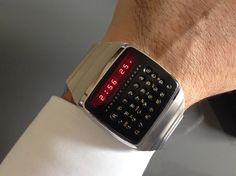 Historical Perspectives: Meet The Very First Smartwatch: Behold The from Hewlett-Packard - HODINKEE Swiss Army Watches, Hewlett Packard, Cool Tech, Seiko Watches, Cool Watches, Wrist Watches, Digital Watch, Apple Watch, Quartz Watch