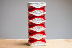Red & white Op Art vase by Royal Bavaria KPM by Eclectivist, $82.00