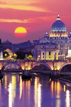 Sunset in Rome, Italy