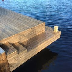 Lake Dock, Boat Dock, Lakeside Living, Outdoor Living, House Deck, Boat House, Summer Cabins, Floating Dock, Winter Cabin