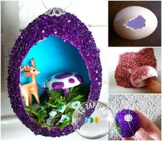 Adornos De Navidad Hechos Con Huevo - Tozapping.com Hanukkah, Snow Globes, Wreaths, Diy, Home Decor, Google, Shape, Craft Tutorials, Crafts To Make