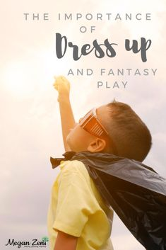 Get those costumes out early, or keep them out long after Halloween to promote the benefits of imaginative play! #imaginativeplay #dressup #fantasyplay #play Fantasy Play, Small World Play, Creative Play, Imaginative Play, Pretend Play, Kindergarten, Dress Up, Teaching, Activities