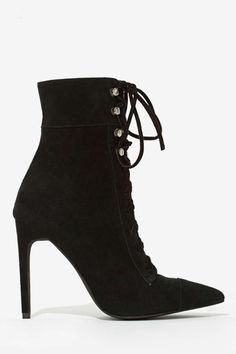 Jeffrey Campbell Elphaba Suede Boot - Heels | Heels | Lace-Up | Jeffrey Campbell