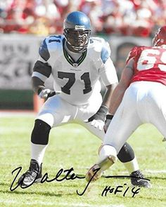 af6927bd6 Walter Jones, Seattle Seahawks, Signed, Autographed, Football 8X10 Photo, a  COA With the Proof Photo of Walter Signing Will Be Included
