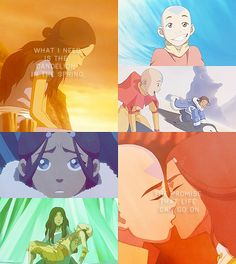 "Avatar and Hunger Games. I actually thought of these characters when I read that line in ""Mockingjay,"" and I realized it was the reason why Katara chose Aang (as opposed to, say, Zuko, who is more angry like Gale)"