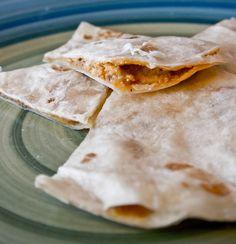 Taco Stuffed Quesadillas - great idea for leftover taco meat