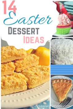 Easter Dessert Ideas and recipes.  Need some new Easter Dessert Ideas?  This roundup of Easter dessert recipes has a little something for everyone – from the cutesy to the classic.