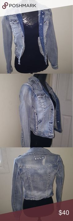 Adorable Jean Jacket! Adorable jean jacket never been worn! Everything is in perfect condition and the inside has two hidden pockets. Other