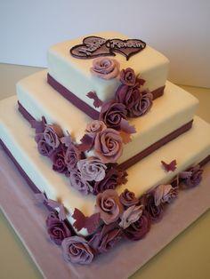 Hochzeitstorte lila 1