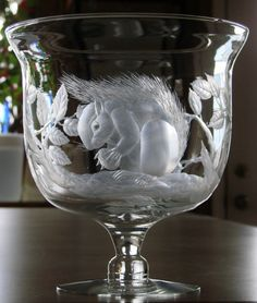 Squirrel*Hand engraved bowl with Stone Wheels by Catherine Miller of Catherine Miller Designs*