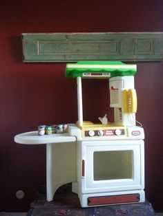 Vtg Little Tikes Tykes Child Size Pretend Play Party Kitchen Oven Stove Sink Set #LittleTikes