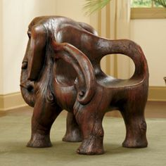 Sumatra Elephant Chair for those who like unusual furniture.and for fun conversations about having an elephant in your home. Elephant Love, Elephant Design, Elephant Art, Elephant Gifts, Elephant Stuff, Unusual Furniture, Funky Furniture, Classic Furniture, Cheap Furniture