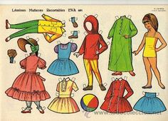 10 láminas muñecas recortables eva. nº 851 al 8 - Comprar Muñecas en todocoleccion - 45113183 Holly Hobbie, Diy And Crafts, Crafts For Kids, Paper Crafts, Paper Dolls Printable, All Paper, Vintage Paper Dolls, Retro, Doll Toys