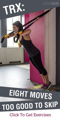 I LOVE TRX! Here are eight moves that you should incorporate into your TRX program: Sixpack Training, Trx Training, Fitness Diet, Fitness Motivation, Health Fitness, Trx Fitness, Rogue Fitness, Fit Board Workouts, At Home Workouts