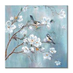 Bird Wall Art, Bird Artwork, Tree Wall Art, Canvas Artwork, Artwork Wall, Wall Canvas, Bird Canvas, Acrylic Painting Flowers, Flower Canvas Art