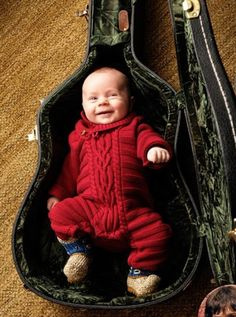 Great baby photo idea for someone who plays guitar