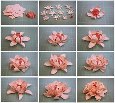Bits of Paper: Paper Flowers Continued. Bits of Paper: Paper Flowers Continued. Paper Flowers Craft, How To Make Paper Flowers, Paper Flower Backdrop, Giant Paper Flowers, Faux Flowers, Flower Crafts, Diy Flowers, Fabric Flowers, Paper Flower Tutorial