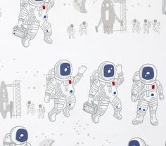 Colton Astronaut Sheet Set | Pottery Barn Kids