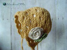 NEW PDF Crochet Pattern - Penelope Bonnet - Permission to sell finished items. $4.99, via Etsy.
