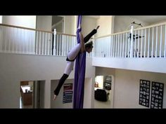 Stephanie Aerial Silk - YouTube - That move at 1:00, I have to learn it!