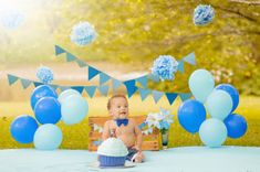 Trendy baby first birthday pictures boy smash cakes ideas Boy Birthday Pictures, Baby Boy 1st Birthday Party, 1st Birthday Photoshoot, First Birthday Photos, Birthday Cupcakes, Birthday Ideas, Outdoor Cake Smash, Book Bebe, Cake Smash Photos