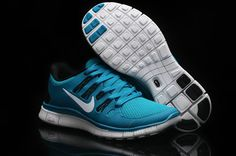 Nike Free 5.0 Cyan Black Womens Running Shoes! Only $55.9USD