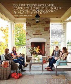 Sarah featured in the October 2013 issue of House & Home