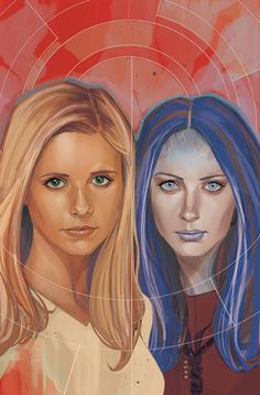 Buffy & Illyria by Phil Noto