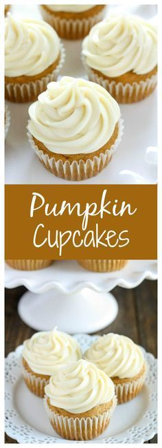 Super Moist And Sweet Pumpkin Cupcakes with the Easiest Perfect Cream Cheese Frosting !