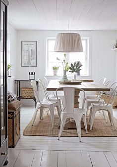 10 ideas to be well at home 10 idea well being home dining room - - Dining Room Chairs, Dining Table, Diy Kitchen Decor, Home Decor, Living Room Update, White Rooms, Simple House, Beautiful Kitchens, Interior