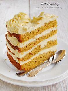 Pumpkin cake with cream - Your source of sweet inspirations! Vanilla Cake, Pumpkin, Baking, Cream, Sweet, Shop, Recipes, Kitchens, Creme Caramel