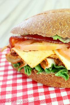 Bacon Jam Chicken Club Sandwich With Avocado And Chipotle Mayo Recipes ...