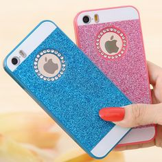 KISSCASE For iPhone 5S Phone Cases Fashion Slim Glitter Case For iPhone 5 5S 5G SE Crystal Diamond Back Cover Shell For iPhone 5