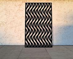 Curvy Chevrons laser cut screens and decorative panels