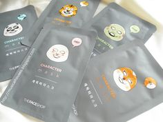 The Face Shop Character Mask Review and Ingredients Analysis - of Faces and Fingers