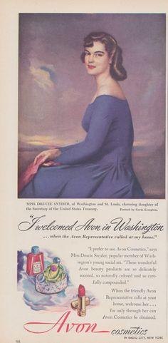 1940s Avon Cosmetics Ad Vintage Advertising Print by AdVintageCom