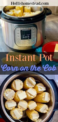 Instant Pot Corn On The Cob is the easiest and most efficient way to cook corn on the cob. No more boiling water and heating up your house in the middle of summer. Cook fresh or frozen corn on the cob to perfection in minutes. Instant Pot Corn on the Cob Crock Pot Recipes, Cooking Recipes, Healthy Recipes, Beef Recipes, Chicken Recipes, Baked Salmon Recipes, Cooking Fish, Corn Recipes, Cooking Bacon