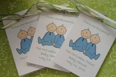 Two Cute Caucasian or African American Twins Baby by SuLuGifts, $30.00