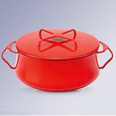 """Кастрюля с крышкой 1,9л """"Стиль Копенгагена"""" (красная) - Круглые кастрюли и кокотницы - Правильные вещи для кухни"""