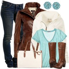 Casual Outfits | Brown Leather Jacket | Fashionista Trends