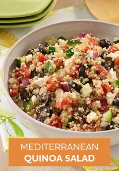 Travel to the Mediterranean with your taste buds! This Mediterranean Quinoa Salad recipe will help you to do just that.