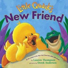 When a frog invites five ducklings to play, four refuse because he is too little and green, but Little Quack has so much fun with his new friend that the other ducklings soon join in. (Grades: Prek-2) Call number: PZ7.T37163 Lkn 2006