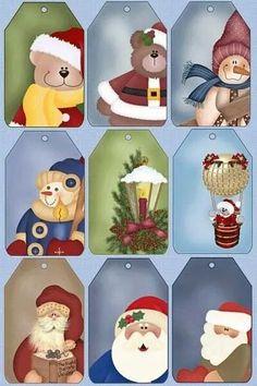 Navidad by adela Christmas Gift Tags Printable, Christmas Labels, Christmas Clipart, Christmas Printables, Christmas Projects, Christmas Holidays, Christmas Crafts, Christmas Decorations, Christmas Ornaments