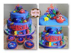 Torta Nemo .. by Dulce Villa - Tortas y Cupcakes #cupcakes #cake #torta #fondant #party #fiesta #evento #nemo #sugar