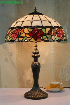 Rose Tiffany Lamp 18S0-51T311