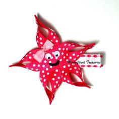 Starfish Ribbon Sculpture Hair Clip