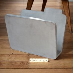 In the shape of a computer file icon, this magazine rack is as fun as it is practical; it looks great in any setting, ideal next to a sofa or a desk. Perfect for your Dad!£145.