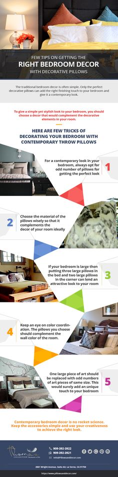 Few Tips on Getting the Right Bedroom #Decor with #Decorative #Pillows. #DecorativePillows for #Couch, #throw #pillows for sofa.