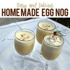 Homemade Egg Nog  #howdoesshe #eggnog #drinkrecipes howdoesshe.com