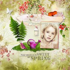 Once Upon a Time the Spring Queen by Kitty Scrap Template by Dawn Inskip  Photo Anarud